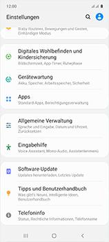 Samsung Galaxy A51 - Gerät - Zurücksetzen auf die Werkseinstellungen - Schritt 4
