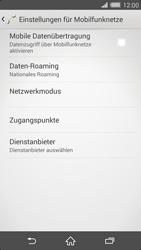 Sony Xperia Z2 - Internet und Datenroaming - Prüfen, ob Datenkonnektivität aktiviert ist - Schritt 6