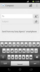 Sony LT30p Xperia T - E-mail - Sending emails - Step 5