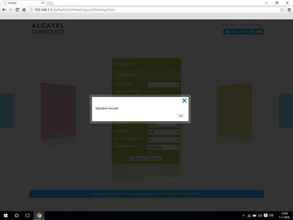 Alcatel MiFi Y900 - Paramètres - Changer le nombre d'utilisateurs - Étape 7