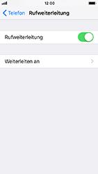 Apple iPhone SE - iOS 12 - Anrufe - Rufumleitungen setzen und löschen - Schritt 6