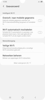 Samsung Galaxy A70 - wifi - schakel Wi-Fi Assistentie uit - stap 11