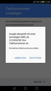 Huawei Mate S - Apps - Konto anlegen und einrichten - Schritt 7