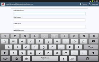 Samsung P5220 Galaxy Tab 3 10-1 LTE - E-mail - e-mail instellen: IMAP (aanbevolen) - Stap 8