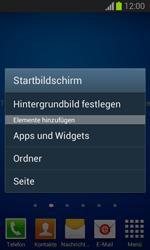 Samsung Galaxy Trend Lite - Startanleitung - Installieren von Widgets und Apps auf der Startseite - Schritt 4
