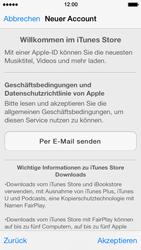 Apple iPhone 5s - Apps - Konto anlegen und einrichten - 2 / 2