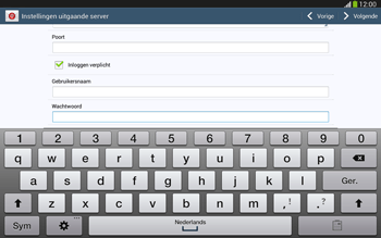 Samsung P5220 Galaxy Tab 3 10-1 LTE - E-mail - e-mail instellen: IMAP (aanbevolen) - Stap 15