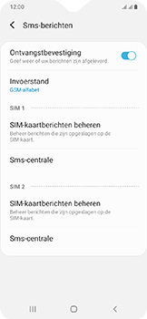 Samsung Galaxy A20e - sms - handmatig instellen - stap 9