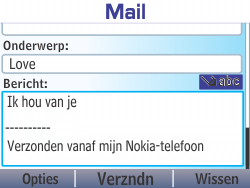 Nokia Asha 210 - E-mail - E-mails verzenden - Stap 12