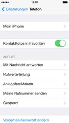 Apple iPhone 5 mit iOS 7 - Anrufe - Rufumleitungen setzen und löschen - Schritt 4