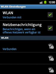 Samsung Galaxy Y - WiFi - WiFi-Konfiguration - Schritt 9