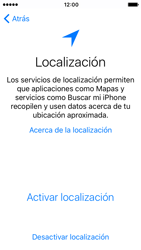 Apple iPhone SE iOS 10 - Primeros pasos - Activar el equipo - Paso 9