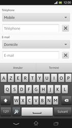 Sony Xpéria SP - Contact, Appels, SMS/MMS - Ajouter un contact - Étape 7