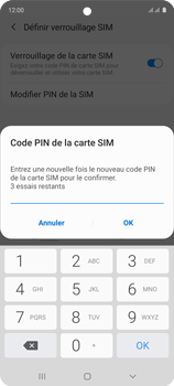 Samsung Galaxy A51 - Sécuriser votre mobile - Personnaliser le code PIN de votre carte SIM - Étape 11