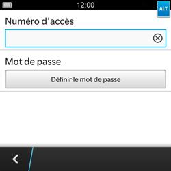 BlackBerry Q5 - Messagerie vocale - configuration manuelle - Étape 9