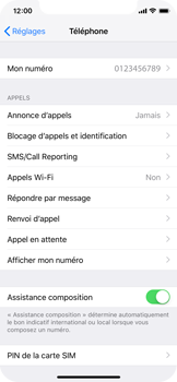 Apple iPhone XS - WiFi - Activez WiFi Calling - Étape 5