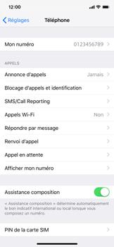 Apple iPhone X - iOS 12 - WiFi - Activez WiFi Calling - Étape 5