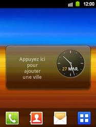 Samsung Galaxy Y - Prise en main - Installation de widgets et d