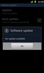Samsung Galaxy S Advance - Software - Installing software updates - Step 9