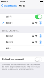 Apple iPhone 5s iOS 10 - WiFi - Configurazione WiFi - Fase 7