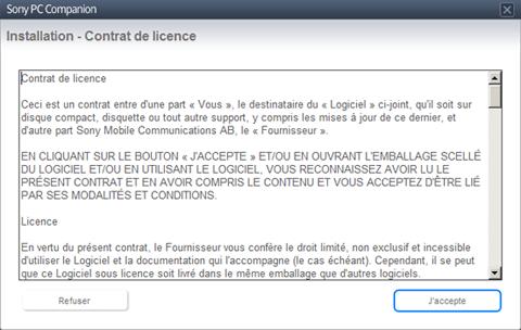 Sony Xperia Z1 - Logiciels - Installation du logiciel de synchronisation PC - Étape 5