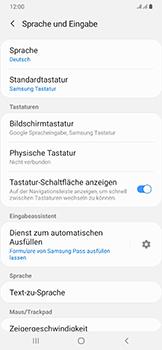 Samsung Galaxy A50 - Startanleitung - So fügen Sie eine Tastatursprache hinzu - Schritt 6