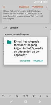 Samsung Galaxy S8 - e-mail - hoe te versturen - stap 12