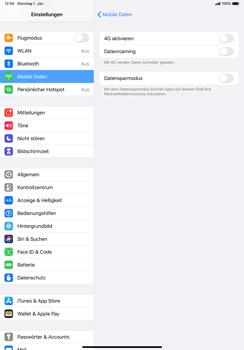 Apple iPad Pro 11 (2018) - iPadOS 13 - Netzwerk - So aktivieren Sie eine 4G-Verbindung - Schritt 5
