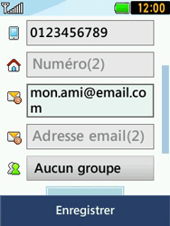 LG T580 - Contact, Appels, SMS/MMS - Ajouter un contact - Étape 13