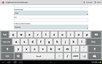 Samsung Galaxy Tab 2 10.1 - E-Mail - Manuelle Konfiguration - Schritt 9
