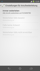 Sony Xperia Z1 Compact - Anrufe - Rufumleitungen setzen und löschen - Schritt 8