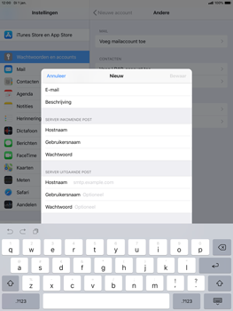Apple ipad-air-10-5-inch-2019-model-a2123 - E-mail - Handmatig instellen - Stap 14