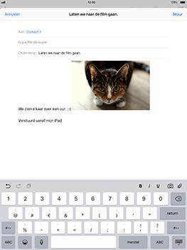 Apple iPad Pro 10.5 inch met iOS 11 (Model A1709) - E-mail - Hoe te versturen - Stap 12