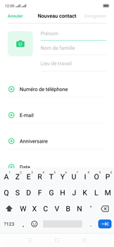 Oppo Reno 2Z - Contact, Appels, SMS/MMS - Ajouter un contact - Étape 5