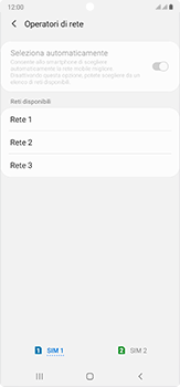 Samsung Galaxy Note 20 Ultra 5G - Rete - Selezione manuale della rete - Fase 11