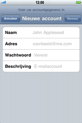 Apple iPhone 3G - e-mail - handmatig instellen - stap 7