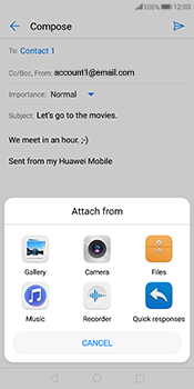 Huawei Mate 10 Pro - E-mail - Sending emails - Step 10