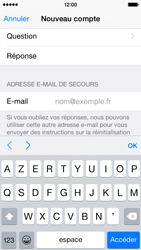Apple iPhone 5s - iOS 8 - Applications - Créer un compte - Étape 15