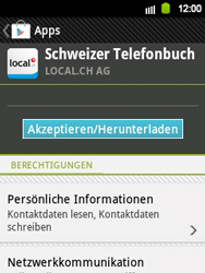 Samsung Galaxy Y - Apps - Installieren von Apps - Schritt 8