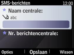 Nokia Asha 210 - SMS - Handmatig instellen - Stap 8