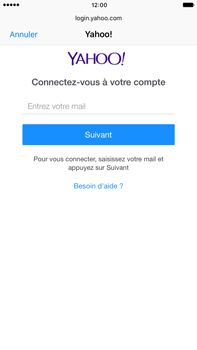 Apple Apple iPhone 6 Plus iOS 10 - E-mail - Configuration manuelle (yahoo) - Étape 6