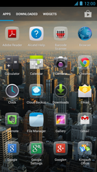 Alcatel One Touch Idol - Internet and data roaming - Using the Internet - Step 3