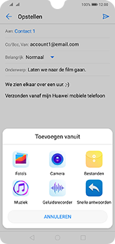 Huawei Y7 (2019) - E-mail - e-mail versturen - Stap 9