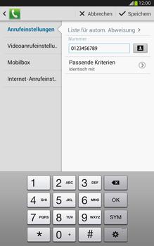 Samsung Galaxy Note 8-0 - Anrufe - Anrufe blockieren - 2 / 2