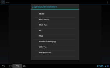 Asus Padfone 2 - MMS - Manuelle Konfiguration - Schritt 11