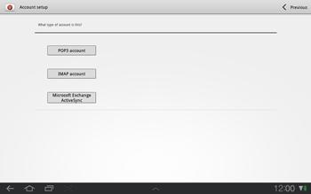 Samsung P7500 Galaxy Tab 10-1 - E-mail - Manual configuration - Step 6