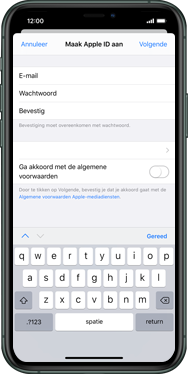 Apple iphone-11-pro-max-model-a2218 - Applicaties - Account aanmaken - Stap 10
