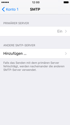 Apple iPhone 5s iOS 9 - E-Mail - Manuelle Konfiguration - Schritt 16