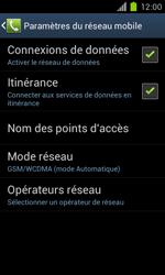 Samsung Galaxy S II - Internet et roaming de données - Désactivation du roaming de données - Étape 6