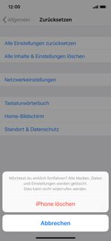Apple iPhone XS - Fehlerbehebung - Handy zurücksetzen - Schritt 9